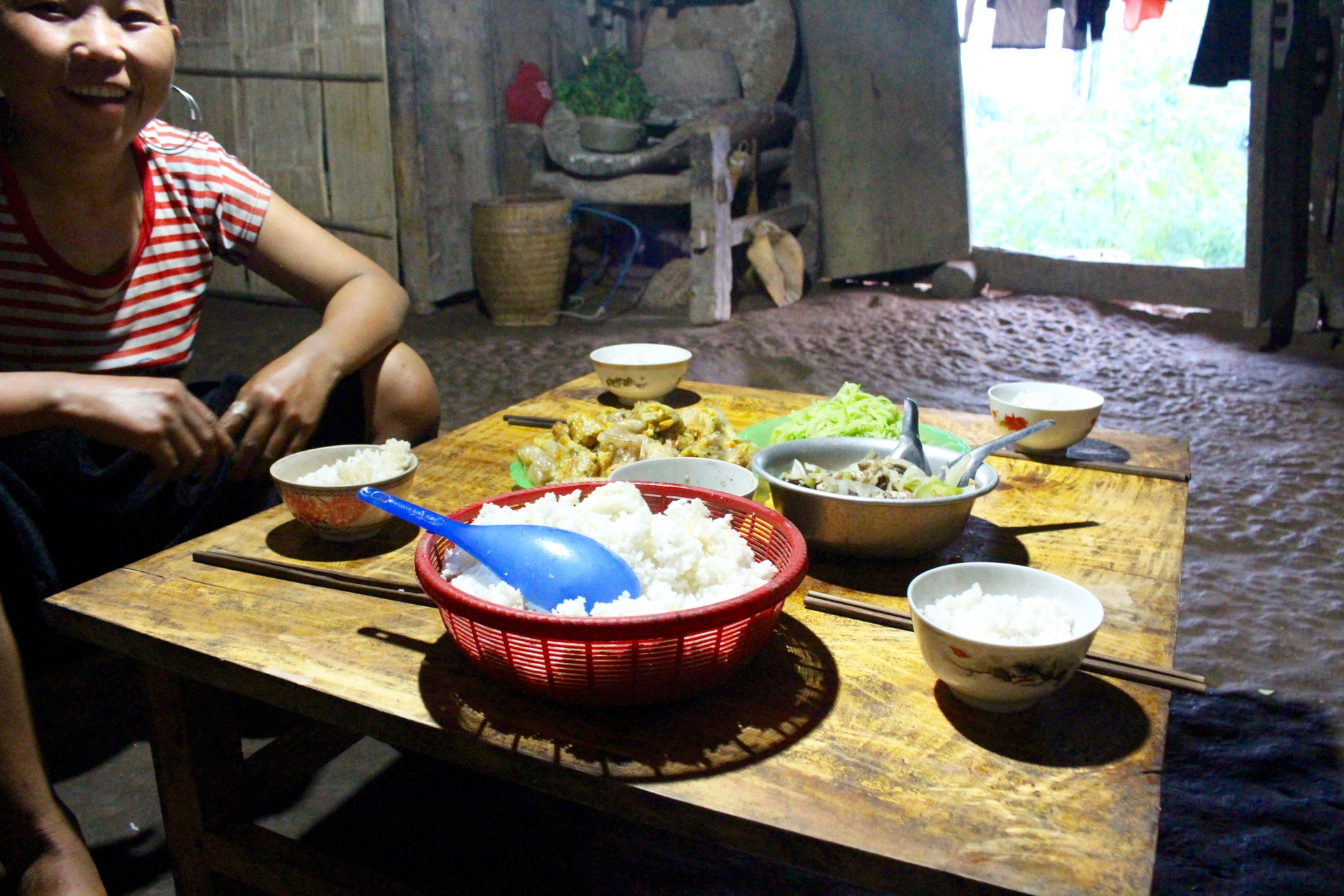Repas traditionnel trek Vietnam