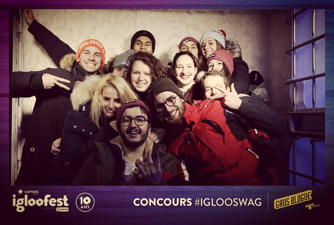 Photo de groupe à Igloofest